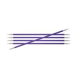 Спицы Knit Pro чулочные Zing 7 мм/15 см, алюминий, аметистовый, 5шт