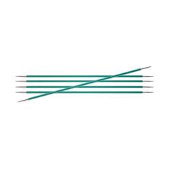 Спицы Knit Pro чулочные Zing 8 мм/20 см, алюминий, изумрудный, 5шт