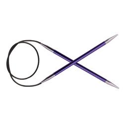 Спицы Knit Pro круговые Zing 7 мм/100 см, алюминий, аметистовый