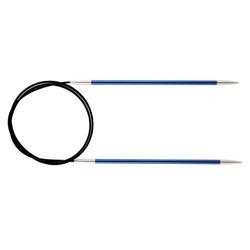 Спицы Knit Pro круговые Zing 4 мм/120 см, алюминий, сапфир