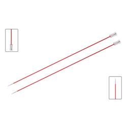 Спицы Knit Pro прямые Zing 6,5 мм/35 см, алюминий, коралловый, 2шт