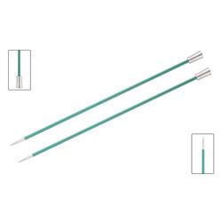 Спицы Knit Pro прямые Zing 8 мм/35 см, алюминий, изумрудный, 2шт