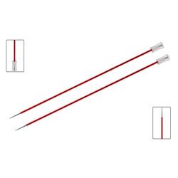 Спицы Knit Pro прямые Zing 9 мм/35 см, алюминий, гранатовый, 2шт