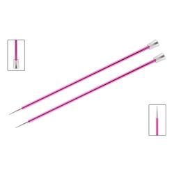 Спицы Knit Pro прямые Zing 10 мм/35 см, алюминий, рубиновый, 2шт