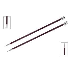 Спицы Knit Pro прямые Zing 12 мм/35 см, алюминий, фиолетовый бархат, 2шт