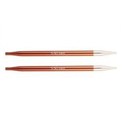 Спицы Knit Pro съемные Zing 5,5 мм для длины тросика 28-126 см, алюминий, охра (коричневый) 2шт
