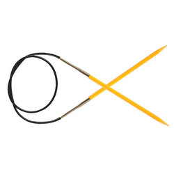 Спицы Knit Pro круговые Trendz 4 мм/100 см, акрил, оранжевый