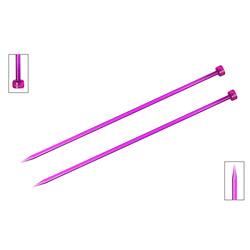 Спицы Knit Pro прямые Trendz 5 мм/30 см, акрил, фиолетовый, 2шт