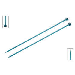 Спицы Knit Pro прямые Trendz 5,5 мм/30 см, акрил, бирюзовый, 2шт