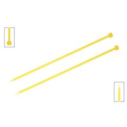Спицы Knit Pro прямые Trendz 6 мм/30 см, акрил, желтый, 2шт