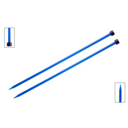 Спицы Knit Pro прямые Trendz 7 мм/30 см, акрил, синий, 2шт