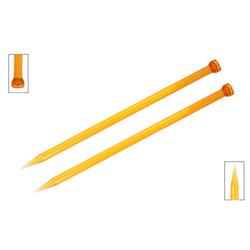Спицы Knit Pro прямые Trendz 10 мм/30 см, акрил, оранжевый, 2шт