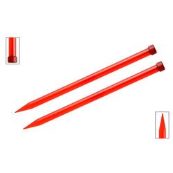 Спицы Knit Pro прямые Trendz 12 мм/30 см, акрил, красный, 2шт