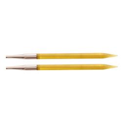 Спицы Knit Pro съемные Trendz 6 мм для длины тросика 28-126 см, акрил, желтый, 2шт