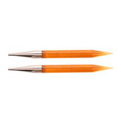 Спицы Knit Pro съемные Trendz 10 мм для длины тросика 28-126 см, акрил, оранжевый, 2шт