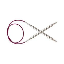 """Спицы Knit Pro круговые """"Nova Metal"""" 5мм/80см, никелированная латунь, серебристый"""