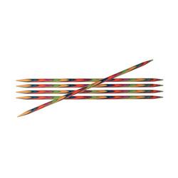 Спицы Knit Pro чулочные Symfonie 3,5 мм/10 см, дерево, многоцветный, 5шт