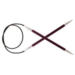 "Спицы Knit Pro круговые ""Zing"" 12 мм/80 см, алюминий"