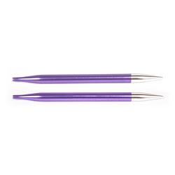 Спицы Knit Pro съемные Zing 3,75 мм для длины тросика 28-126 см, алюминий, хризолитовый (зеленый) 2шт