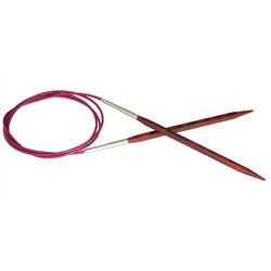 """Спицы Knit Pro круговые """"Cubics"""" 4мм/100см, дерево, коричневый"""