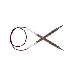 """Спицы Knit Pro круговые """"Cubics"""" 5,5мм/100см, дерево, коричневый"""
