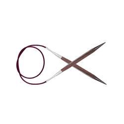 """Спицы Knit Pro круговые """"Cubics"""" 6мм/100см, дерево, коричневый"""