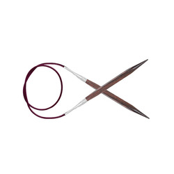 """Спицы Knit Pro круговые """"Cubics"""" 6мм/80см, дерево, коричневый"""