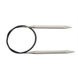 """Спицы Knit Pro круговые """"Nova Cubics"""" 4мм/100см, никелированная латунь, серебристый"""
