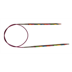 """Спицы Knit Pro круговые """"Symfonie"""" 4,5мм/60см, дерево, многоцветный"""