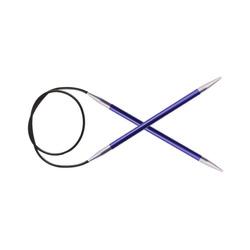 "Спицы Knit Pro круговые ""Zing"" 4,5мм/40см, алюминий"