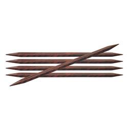 """Спицы Knit Pro чулочные """"Cubics"""" 5мм 20см дерево, коричневый, 5шт"""