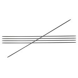 """Спицы Knit Pro чулочные """"Karbonez"""" 1,25мм/20см, карбон, черный, 5шт в упаковке"""