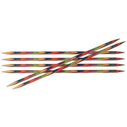 """Спицы Knit Pro чулочные """"Symfonie"""" 4мм/20см, дерево, многоцветный, 5шт в упаковке"""
