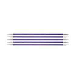 """Спицы Knit Pro чулочные """"Zing"""" 3,75мм/20см, алюминий, 5шт в упаковке"""