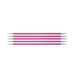 """Спицы Knit Pro чулочные """"Zing"""" 5мм/20см, алюминий, 5шт в упаковке"""