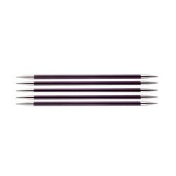"""Спицы Knit Pro чулочные """"Zing"""" 6мм/20см, алюминий, 5шт в упаковке"""