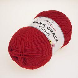 Пряжа Троицкая LANA GRACE Classic (25% мериносовая шерсть, 75% акрил супер софт) 5х100г/300м цв.0042 красный