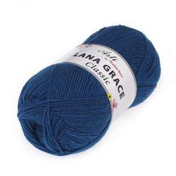 Пряжа Троицкая LANA GRACE Classic (25% мериносовая шерсть, 75% акрил супер софт) 5х100г/300м цв.2000 синее море