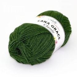 Пряжа Троицкая LANA GRACE Classic (25% мериносовая шерсть, 75% акрил супер софт) 5х100г/300м цв.3664 св.зеленый