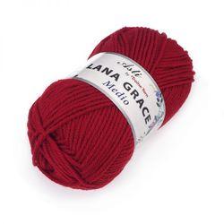 Пряжа Троицкая LANA GRACE Medio (25% мериносовая шерсть, 75% акрил супер софт) 5х100г/170м цв.0042 красный