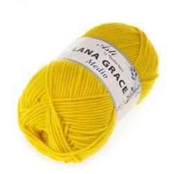 Пряжа Троицкая LANA GRACE Medio (25% мериносовая шерсть, 75% акрил супер софт) 5х100г/170м цв.0123 холодный желтый