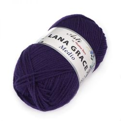 Пряжа Троицкая LANA GRACE Medio (25% мериносовая шерсть, 75% акрил супер софт) 5х100г/170м цв.0266 фиолетовый