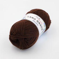 Пряжа Троицкая LANA GRACE Medio (25% мериносовая шерсть, 75% акрил супер софт) 5х100г/170м цв.0412 шоколад