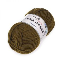 Пряжа Троицкая LANA GRACE Medio (25% мериносовая шерсть, 75% акрил супер софт) 5х100г/170м цв.0680 хаки
