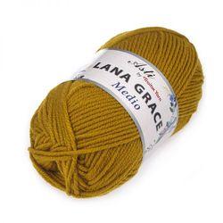 Пряжа Троицкая LANA GRACE Medio (25% мериносовая шерсть, 75% акрил супер софт) 5х100г/170м цв.1268 горчица