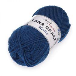 Пряжа Троицкая LANA GRACE Medio (25% мериносовая шерсть, 75% акрил супер софт) 5х100г/170м цв.2000 синее море