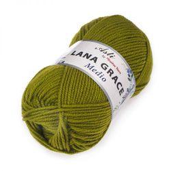 Пряжа Троицкая LANA GRACE Medio (25% мериносовая шерсть, 75% акрил супер софт) 5х100г/170м цв.2010 спелый лайм