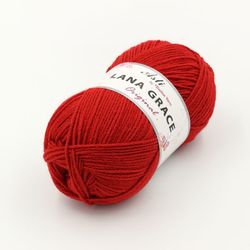 Пряжа Троицкая LANA GRACE Original (25% мериносовая шерсть, 75% акрил супер софт) 5х100г/300м цв.0042 красный