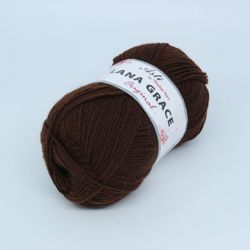Пряжа Троицкая LANA GRACE Original (25% мериносовая шерсть, 75% акрил супер софт) 5х100г/300м цв.0412 шоколад