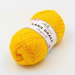 Пряжа Троицкая LANA GRACE Original (25% мериносовая шерсть, 75% акрил супер софт) 5х100г/300м цв.0596 желтый